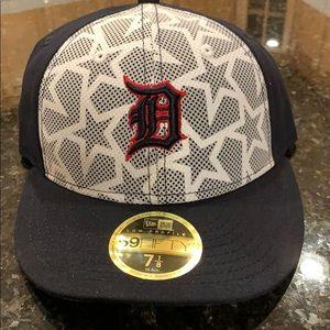 Tigers New Era White/Navy Stars & Stripes Hat